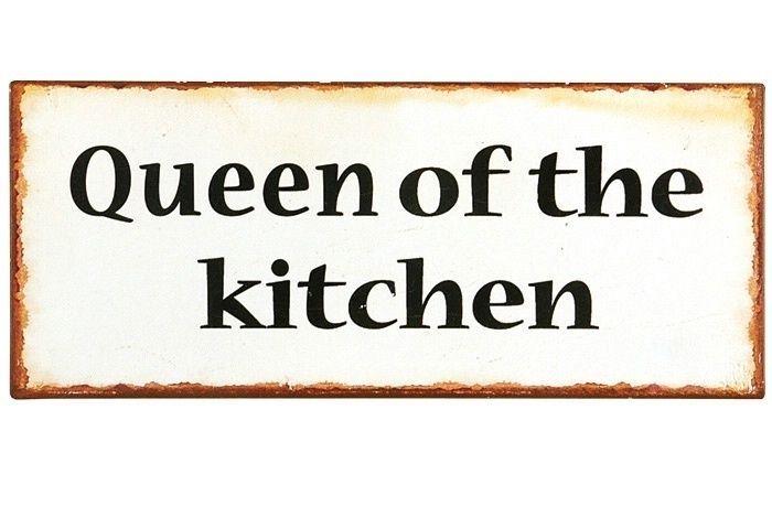 Vintage Home Blechschild Metallschild Bild Queen of the kitchen IB LAURSEN