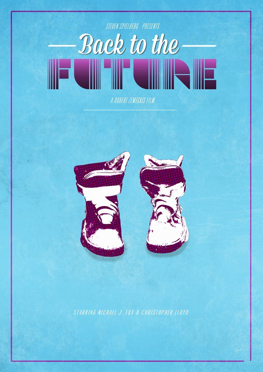 nike air max back to the future poster making