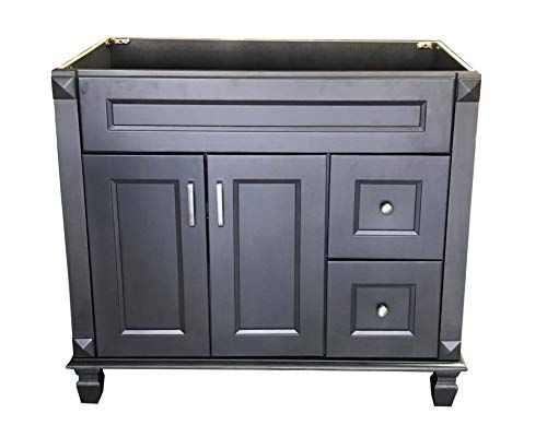 carbon metallic solid wood single bathroom vanity base