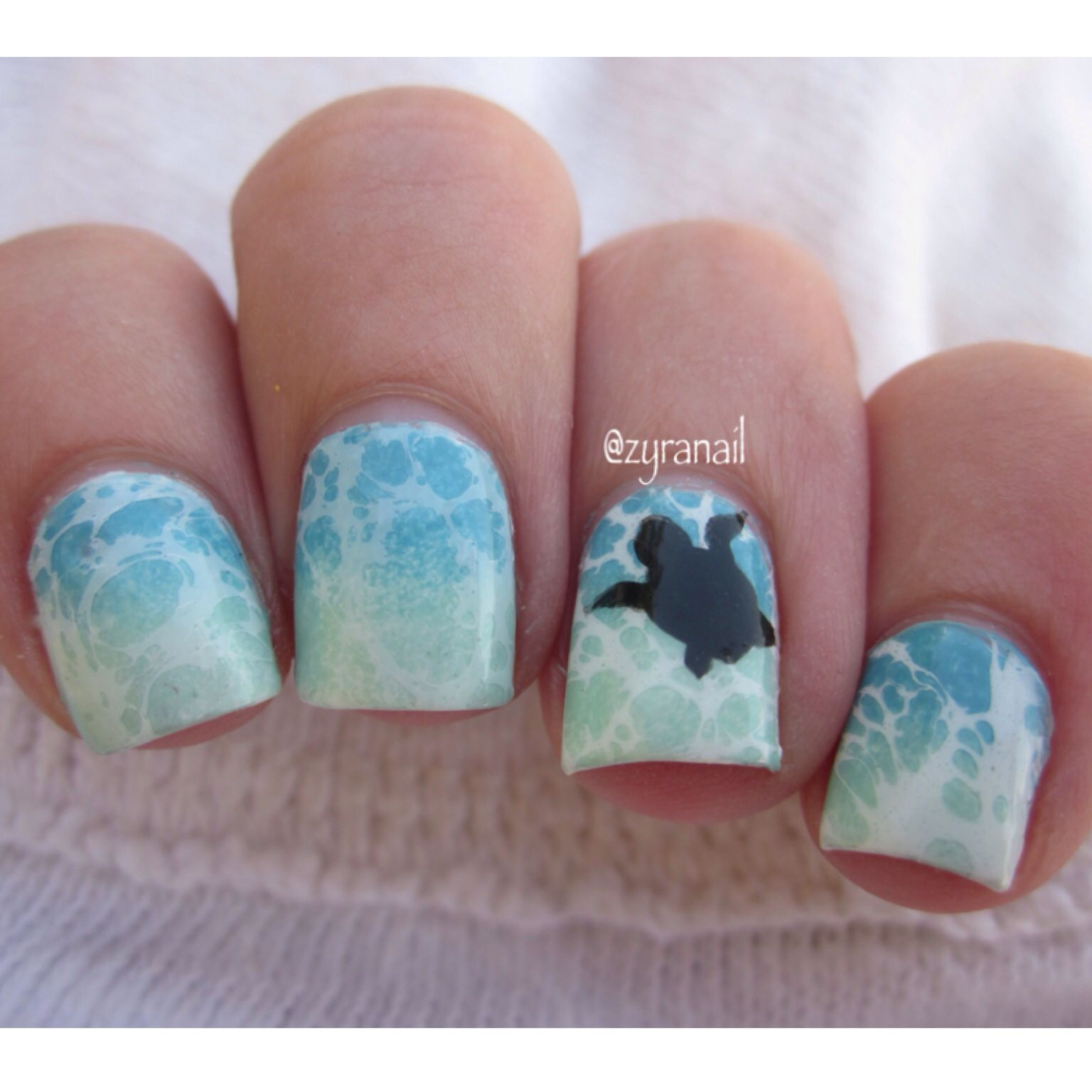 Sea turtle nail art | Nails | Pinterest | Turtle nail art, Turtle ...