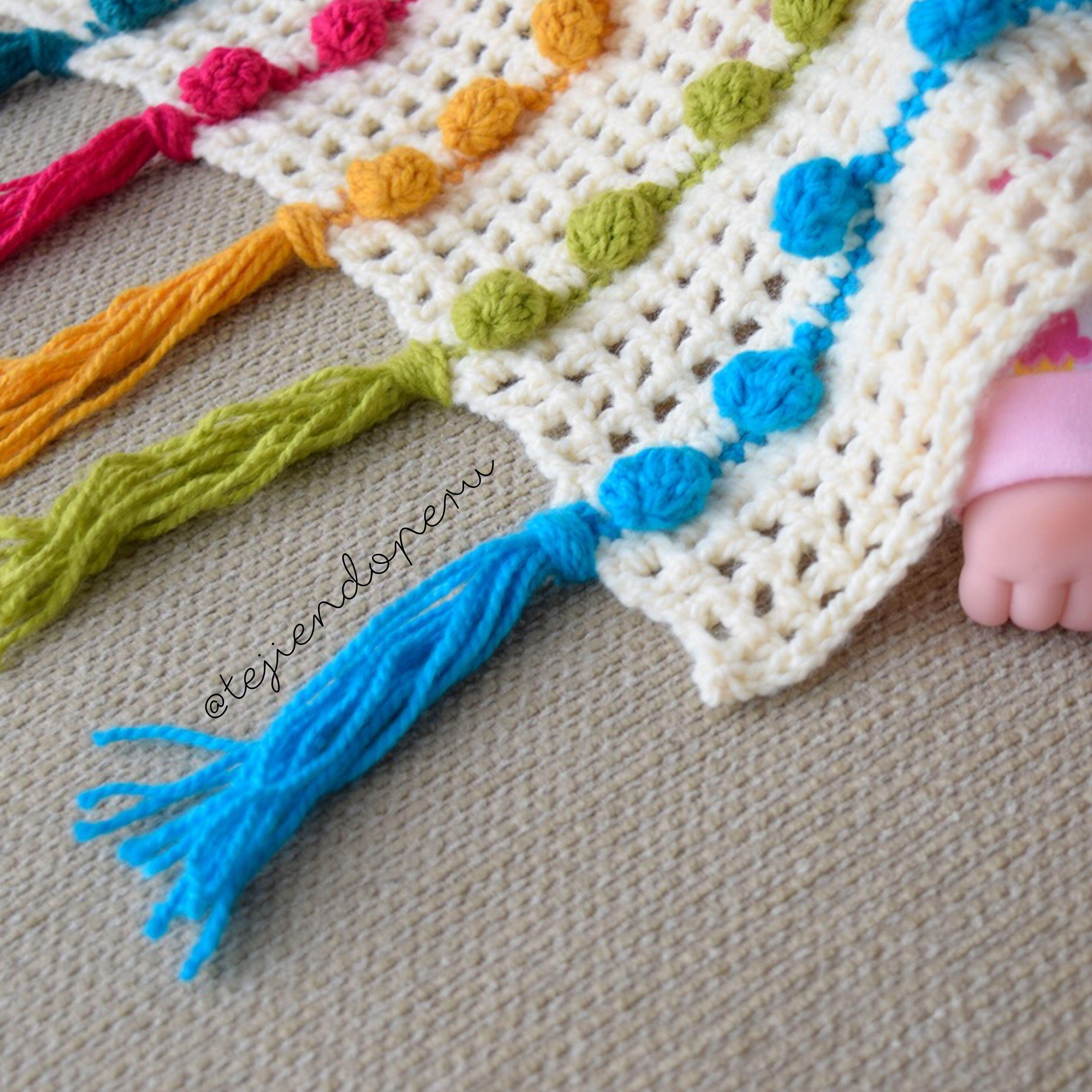 Crochet: colcha calada tejida en punto pompón Video tutorial del ...