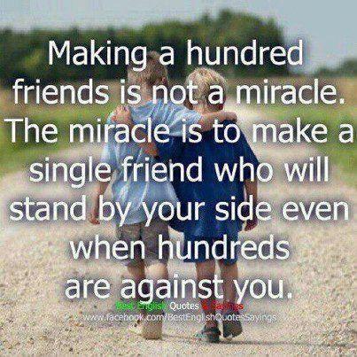 One True Friend Is Better Than Hundreds Of Untrue Friends