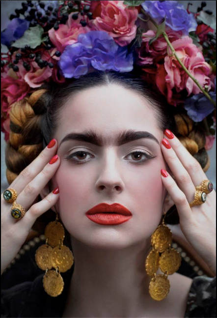 die besten 25 frida kahlo makeup ideen auf pinterest frida kahlo kost m mexikanischer mode. Black Bedroom Furniture Sets. Home Design Ideas
