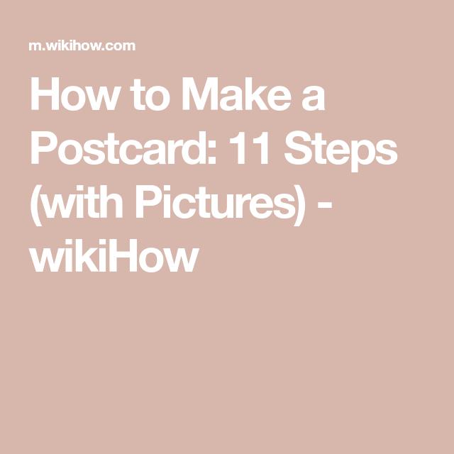 Make A Postcard Diy Postcard Make A Lamp Cool Diy Projects