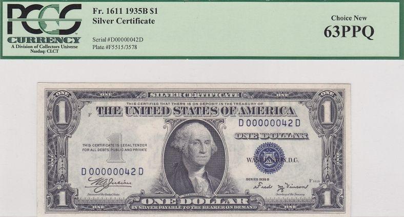 1957B $1 STAR Silver Certificate XF-AU