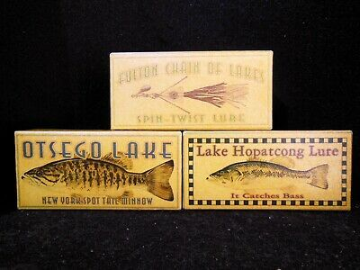 Fulton Chain Hopatcong Otsego lakes fishing lure box