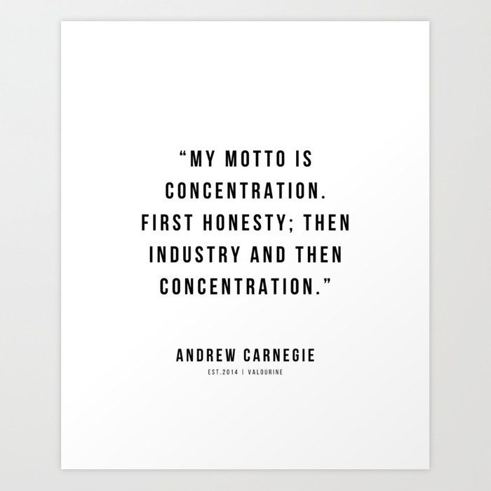 41 |Andrew Carnegie Quotes | 21010 | Motivational Inspirational Success Quote Personal Development Business Coach Art Print by Wordz