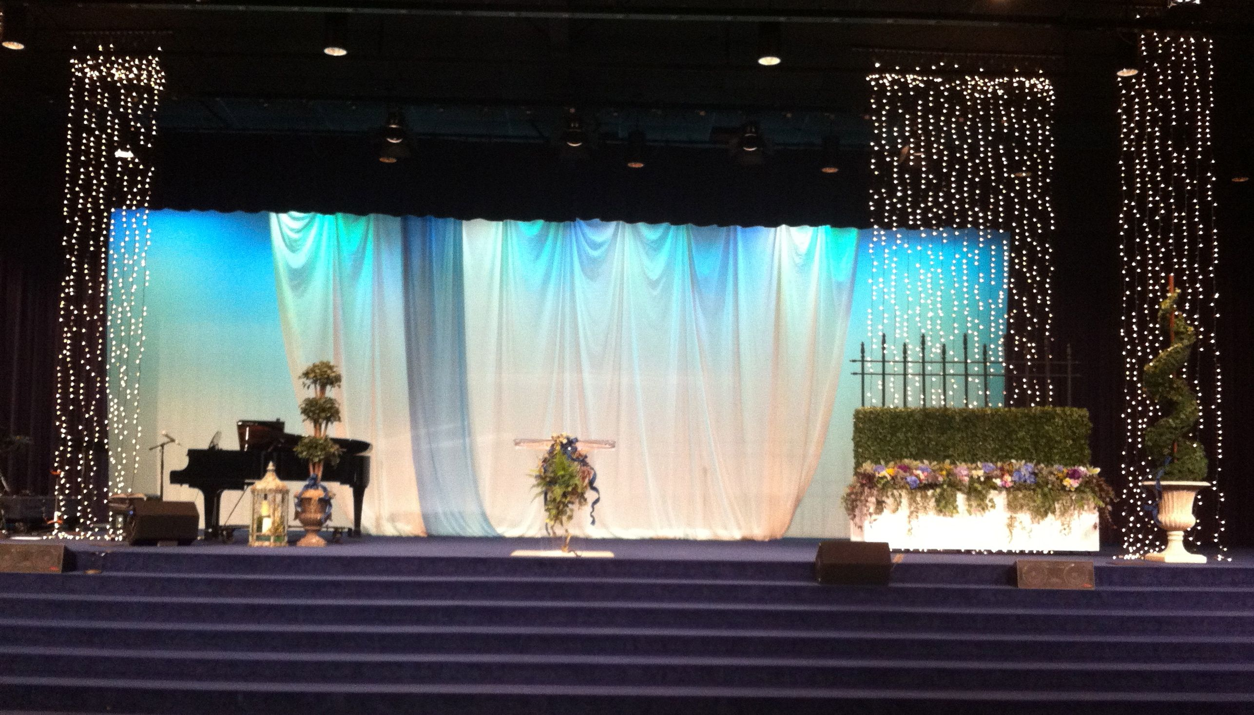 Cfc Church Stage Decorations Women S Conference Decor Early Spring 2017