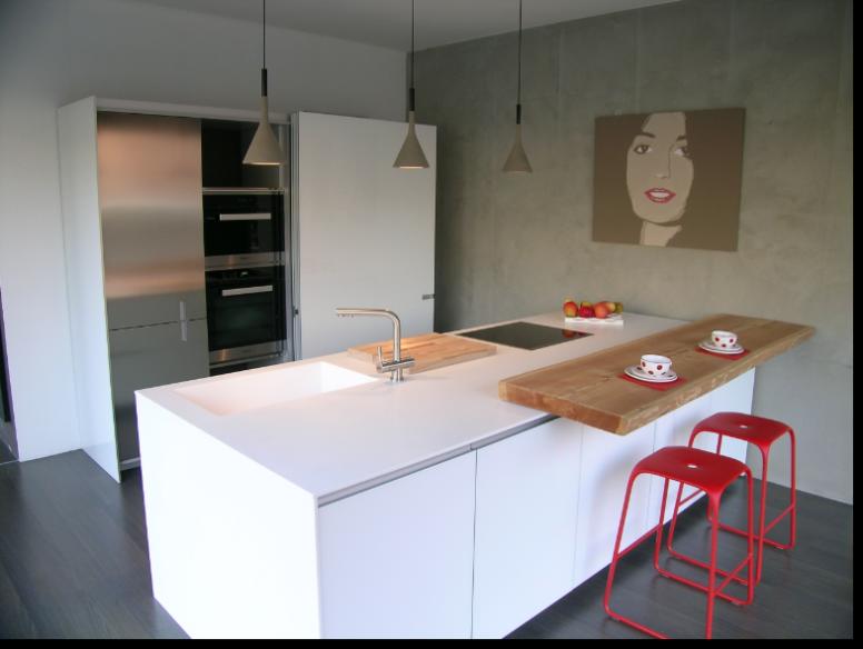 cucine ernestomeda icon vetro bianco ice piano in corian | cucina ...