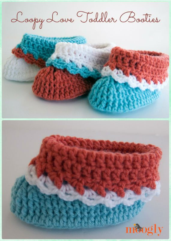 Crochet Loopy Love Toddler Booties Free Pattern - Crochet Baby ...