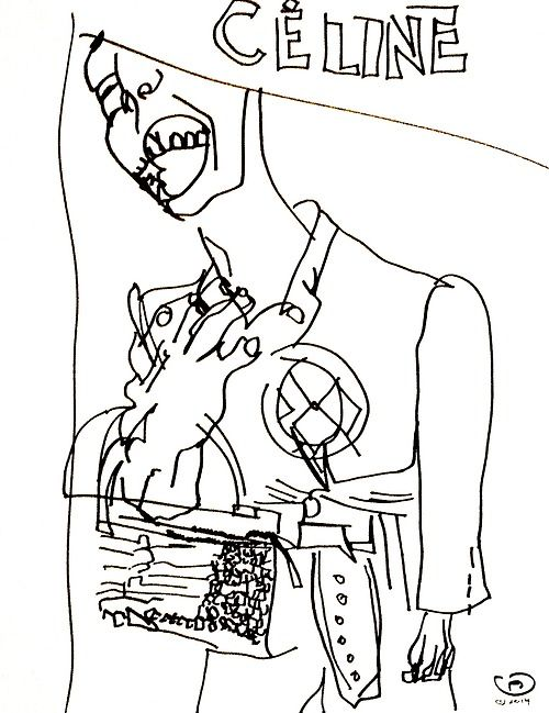 belle BRUT sketchbook: #CELINE #fashion #style #illustration #blindcontour © belle BRUT 2014 http://bellebrut.tumblr.com/post/93748079150/belle-brut-sketchbook-celine-fashion-style