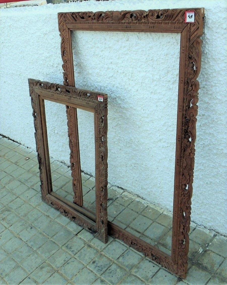 Marcos para cuadros artísticos, de madera tallada. Disponibles en ...