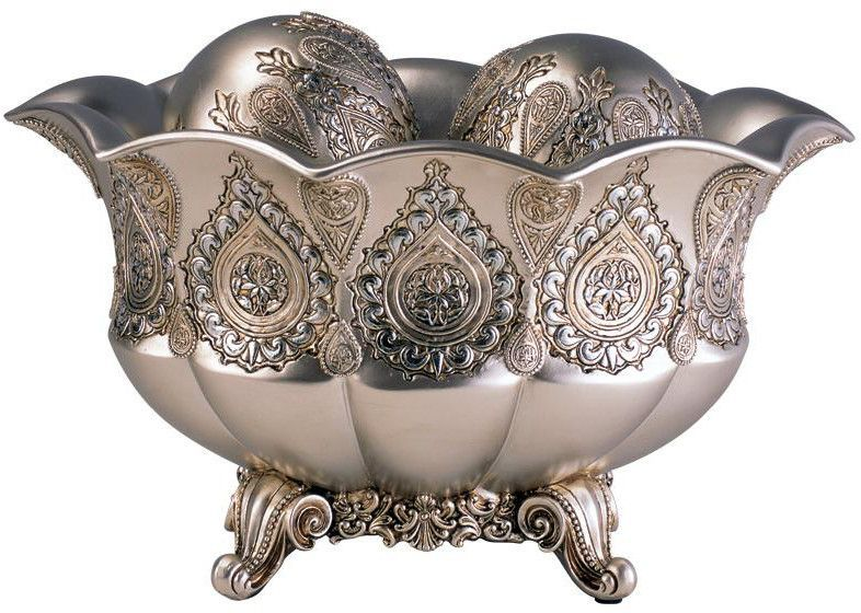 Silver Paisley Bowl With