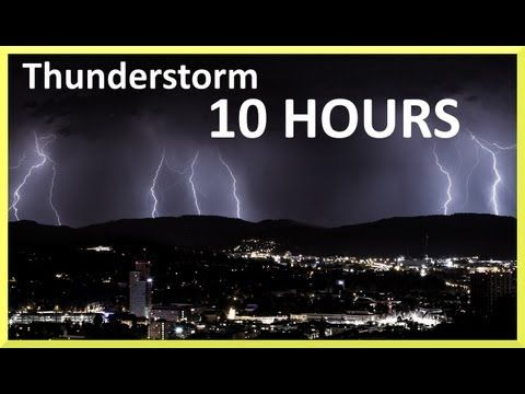 Thunderstorm And Rain Sounds 10 Hours Youtube Thunderstorm Sounds Rain And Thunder Sounds Sound Of Rain