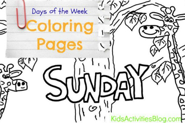 Sunday Learn The Days Of The Week With Your Kids Coloring Page Kids Activities Blog Bible Curriculum Coloring For Kids