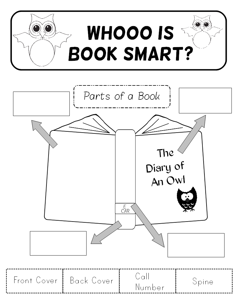 A book about book parts title pages escola e livros reinforce parts of a book title page and call numbers with the library patchs ccuart Choice Image