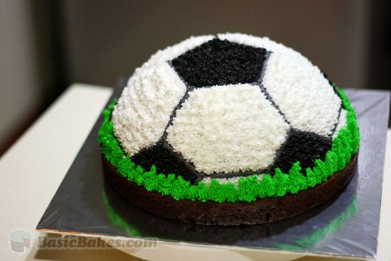 4 Easy Ways To Decorate A Cake Soccer Cake Soccer Ball Cake Cake Tins