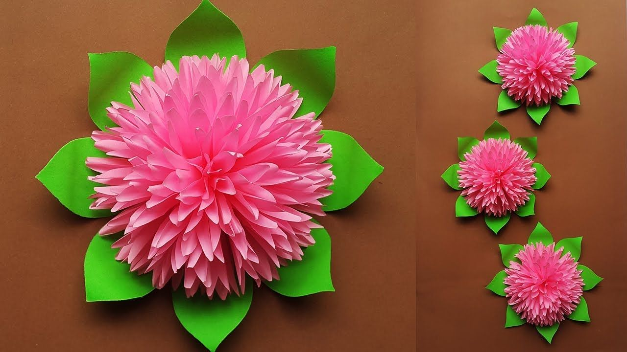 How To Make Beautiful Paper Flower For Home Decor Paper Flowers