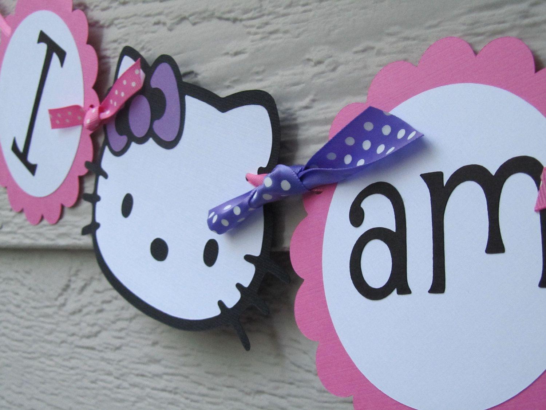Hello Kitty High Chair Kids Balance Ball Banner First Birthday I Am One 1