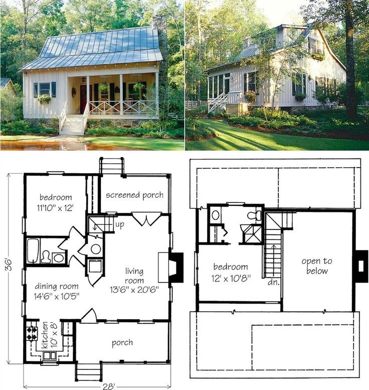 Pin By Ashley Lowe On Houses Homes Tiny Farmhouse Tiny House Plans Cottage Plan