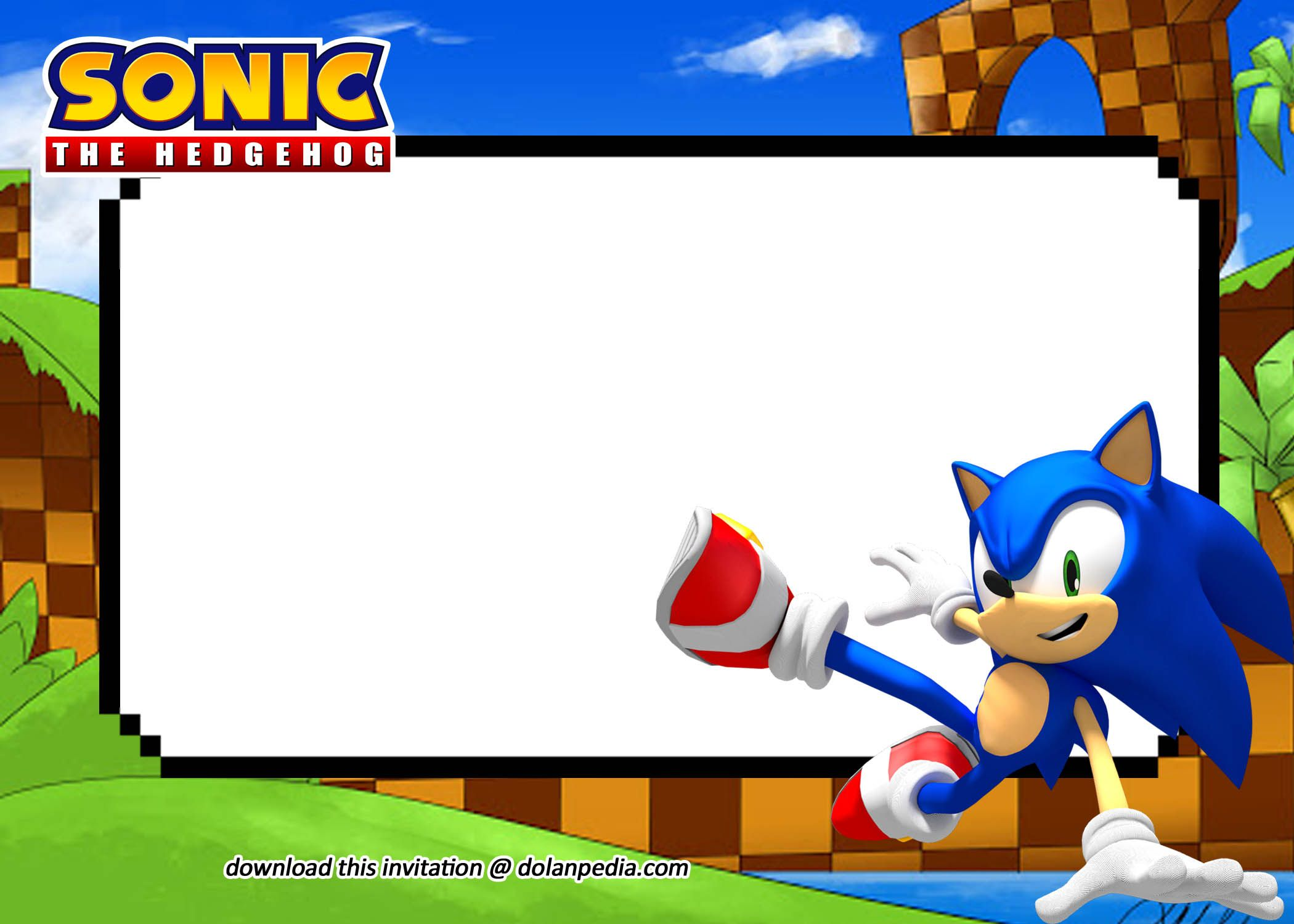 Free Printable Sonic Invitation Templates in 2020