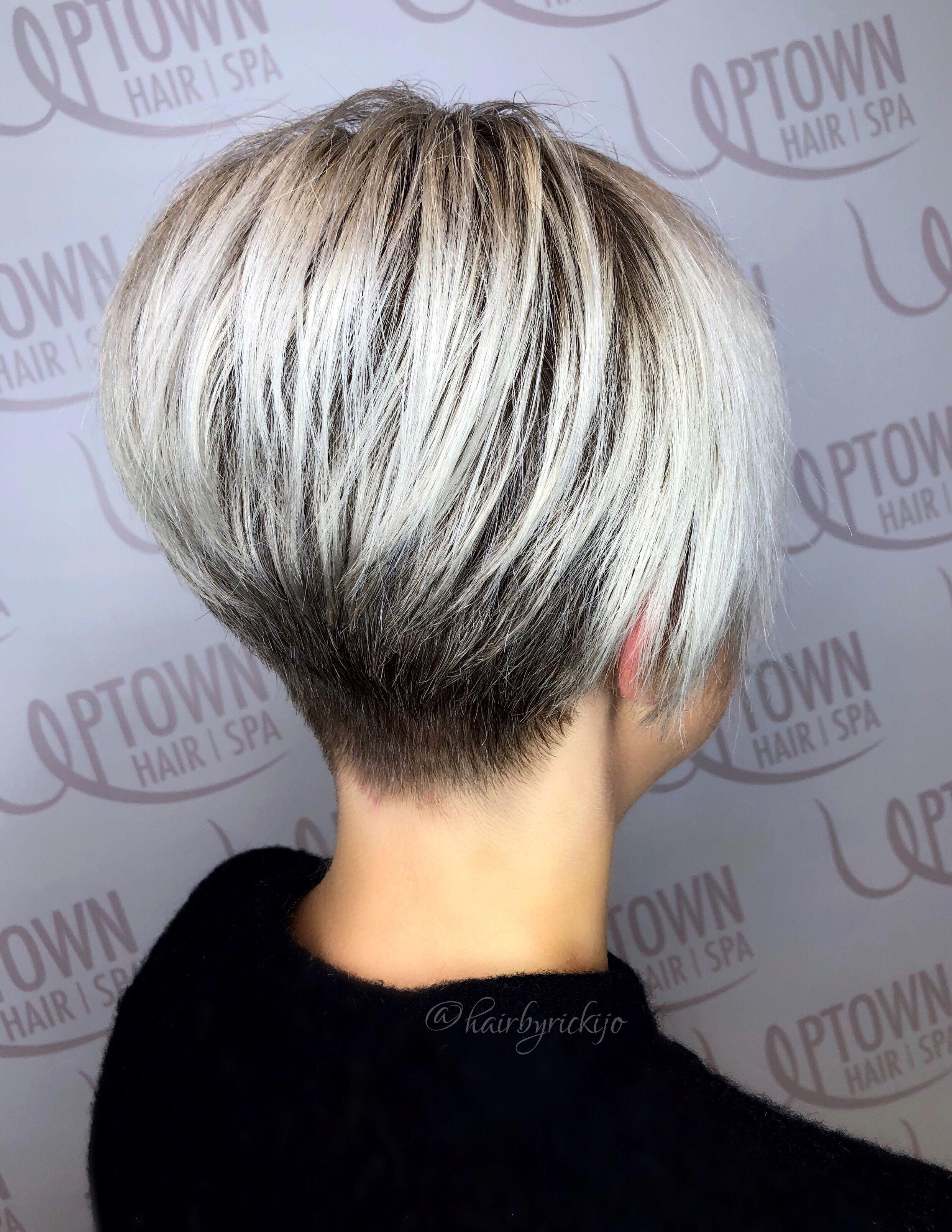 platinum pob (short bob/pixie) haircut  Short hair styles, Wedge