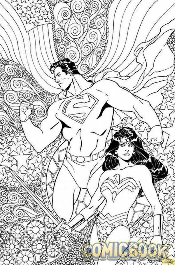 Superman And Wonder Woman Coloring Page Coloring Books Superhero Coloring Pages Superhero Coloring