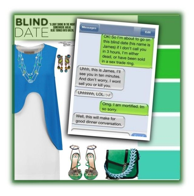 """""""Blind Date Blooper"""" by fassionista ❤ liked on Polyvore featuring Emilio Pucci, Sweet Romance, Loewe, Gucci and Style & Co."""
