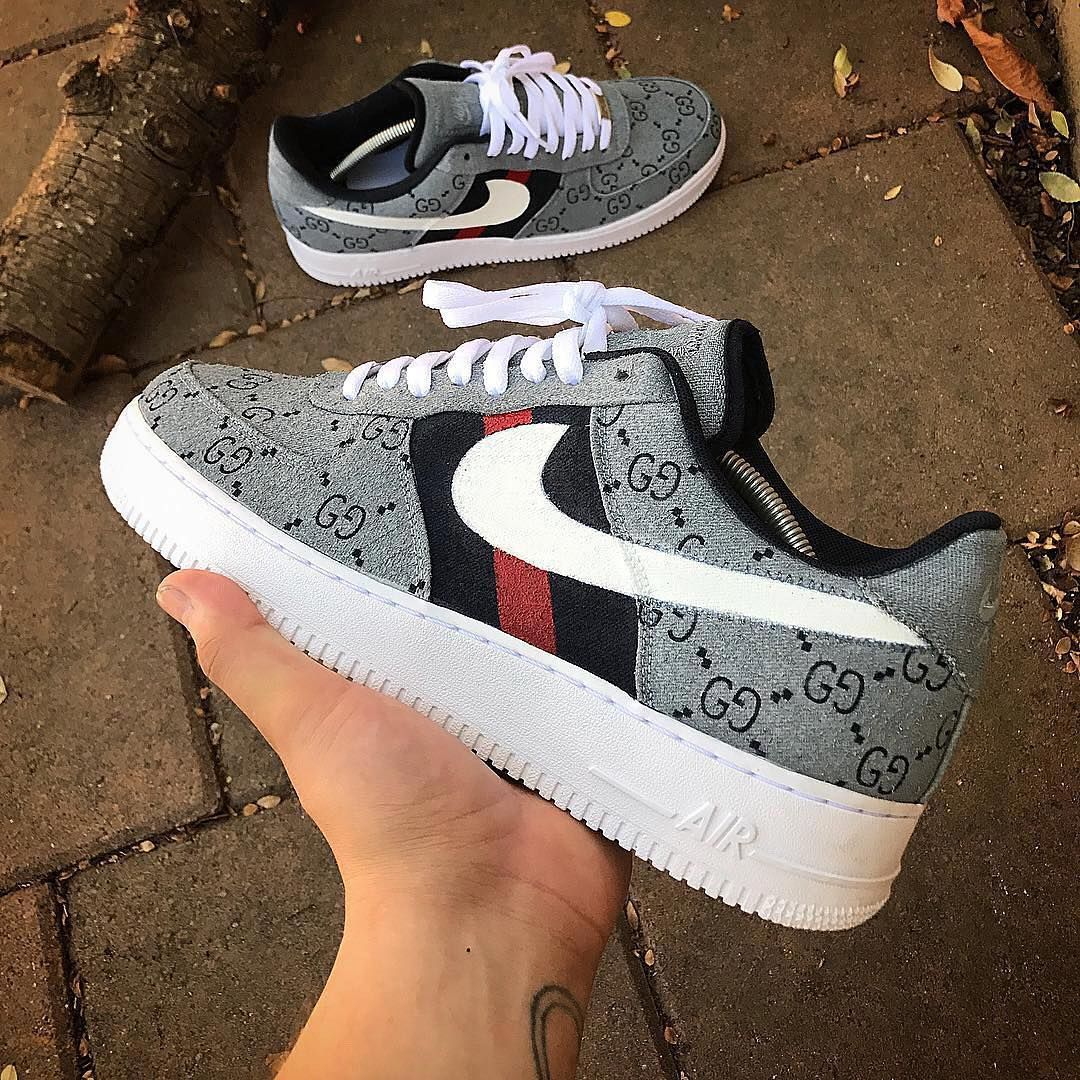 Custom Gucci Air Force 1 By canyoncitycustoms