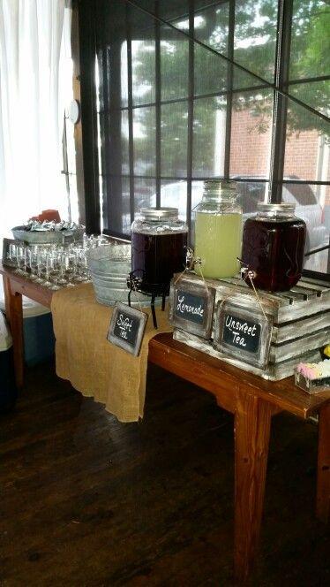 Beverage station, wedding