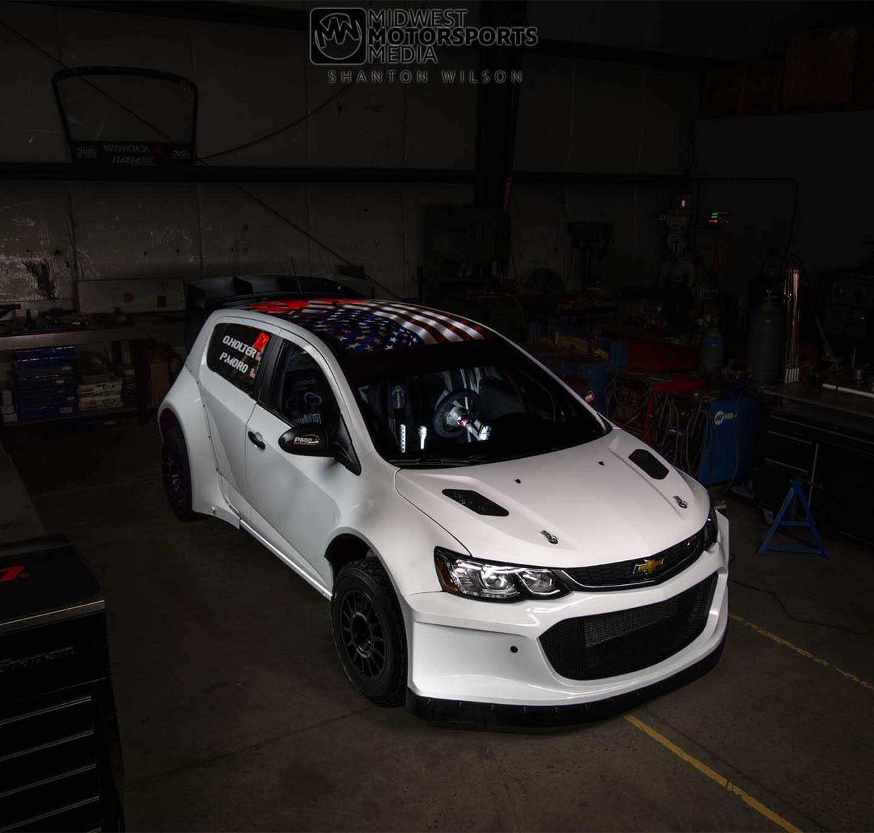 This Chevy Sonic Rally Car Rocks Ls3 V8 And Awd Chevy Sonic