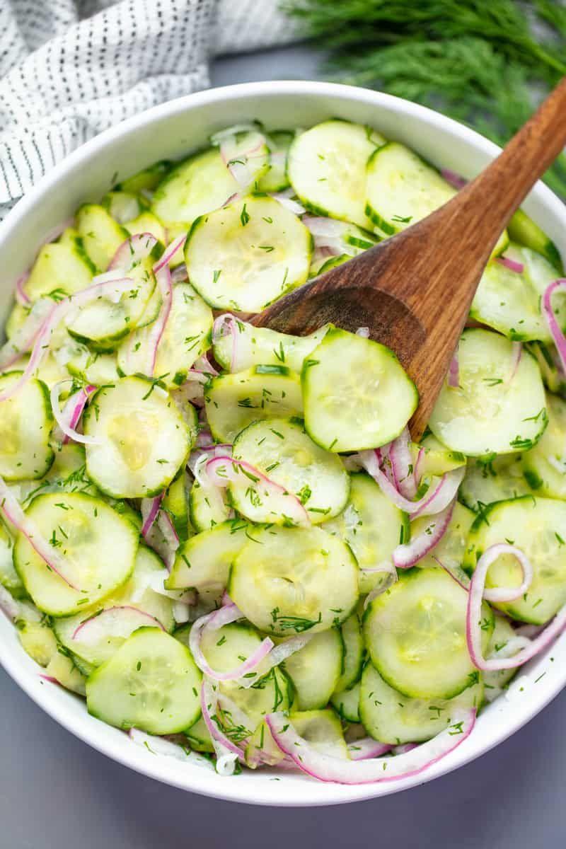 Easy Cucumber Salad Recipe Easy Cucumber Salad Cucumber Recipes Salad Cucumber Salad