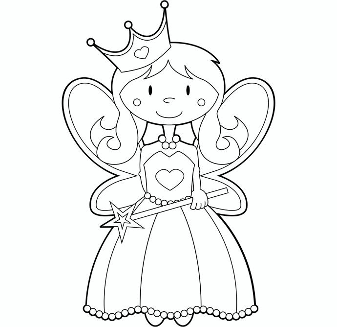 Tooth fairy coloring page … | toothfairy | Pinte…