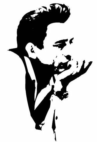 johnny cash stencil google search tattoo ideas pinterest stencil vorlagen wohnw nde und. Black Bedroom Furniture Sets. Home Design Ideas