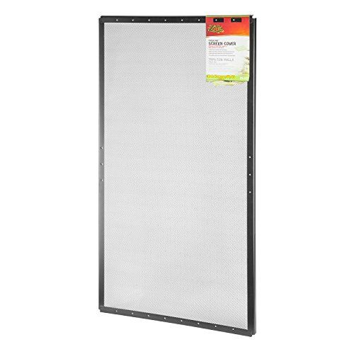 Zilla Reptile Terrarium Covers Fresh Air Screen 36x18 Inch Reptile Terrarium Mesh Screen Terrarium