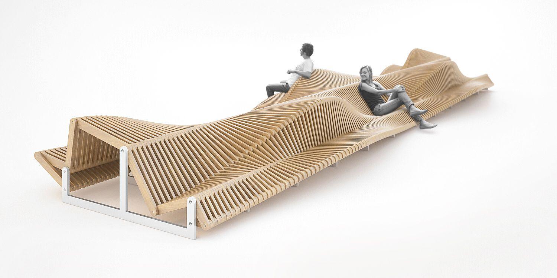 Banc Uiliuili Par Piotr Uraw Architekt City Furniture  # Modele Banc En Bois