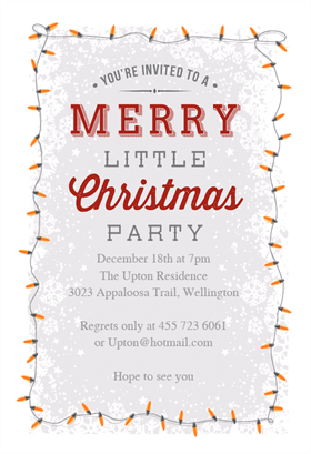 15 Free Printable Christmas Party Invitations: A Merry Little Christmas  Party Invite From Greetings Island  Christmas Dinner Invitation Template Free