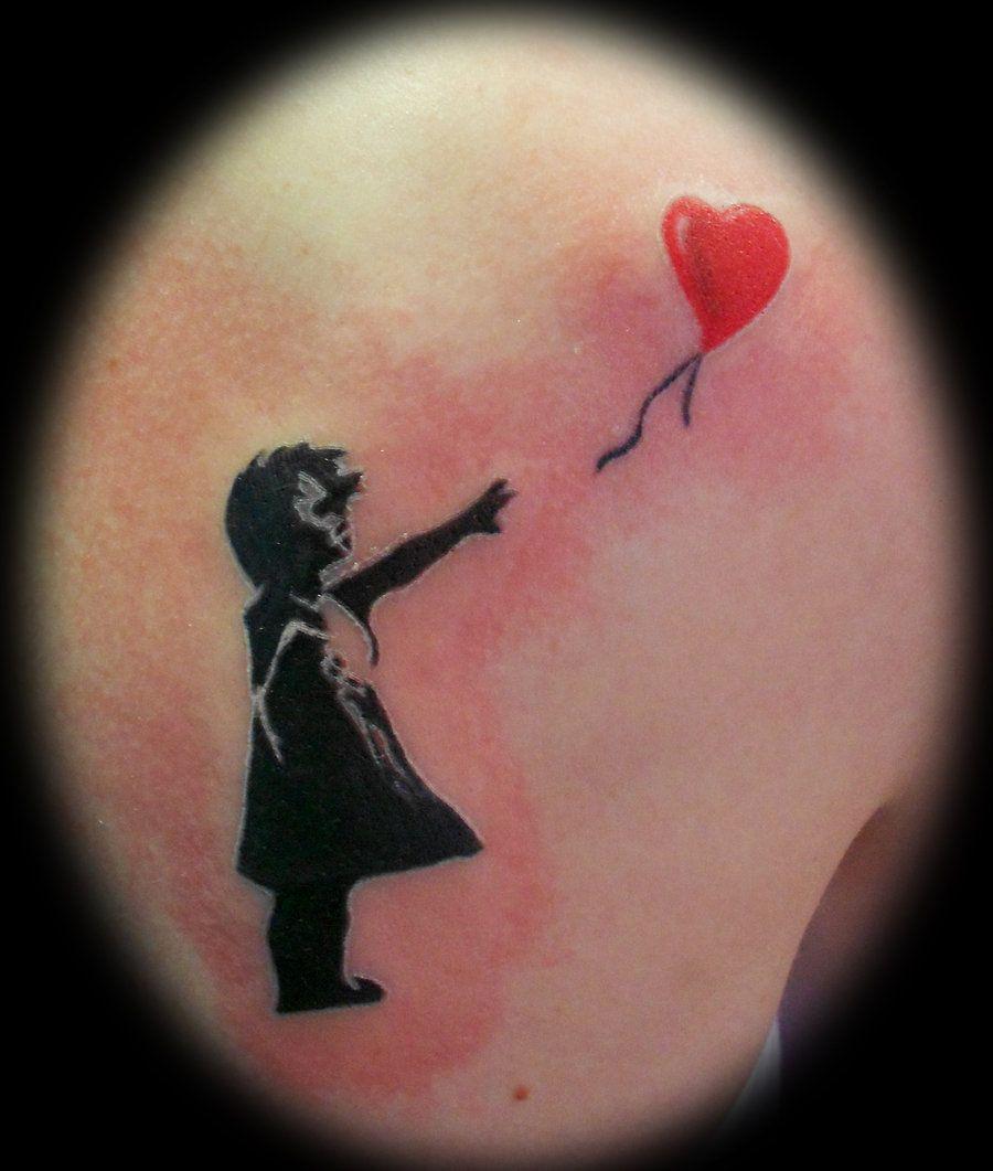 Daddys girl tattoo ideas little daddyus girls tattoos meanings  balloon girl tattoo by