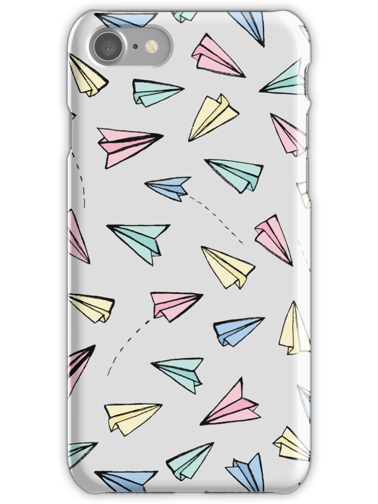 Paper Planes in Pastel iPhone 7 Snap Case
