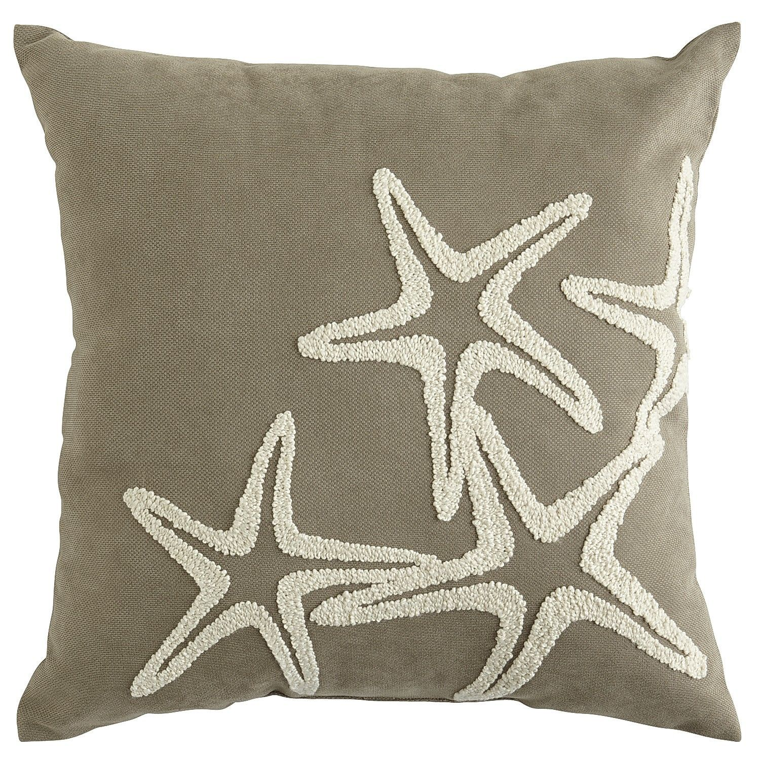 Embroidered Starfish Pillow Pier 1 Imports Might Match Our Swing Cover