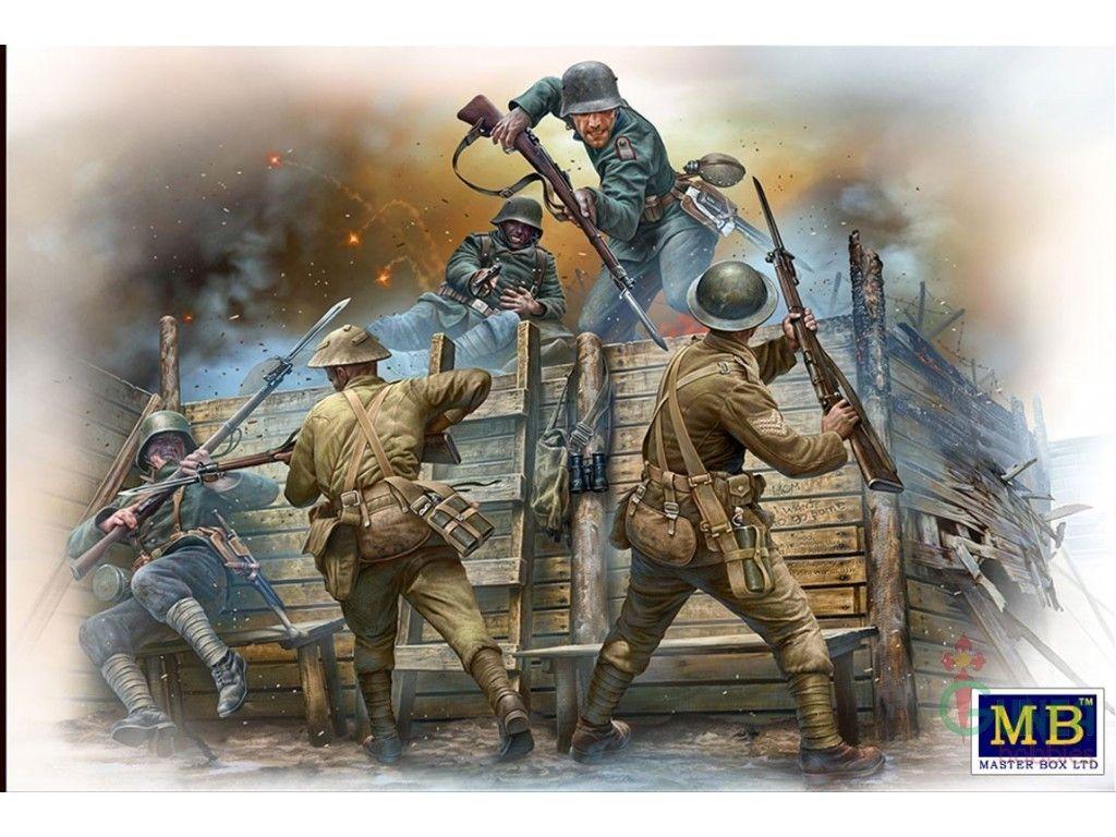 "MTB35116 1:35 Master Box German & British Infantrymen WWI Era ""Hand-to-Hand Fight"""
