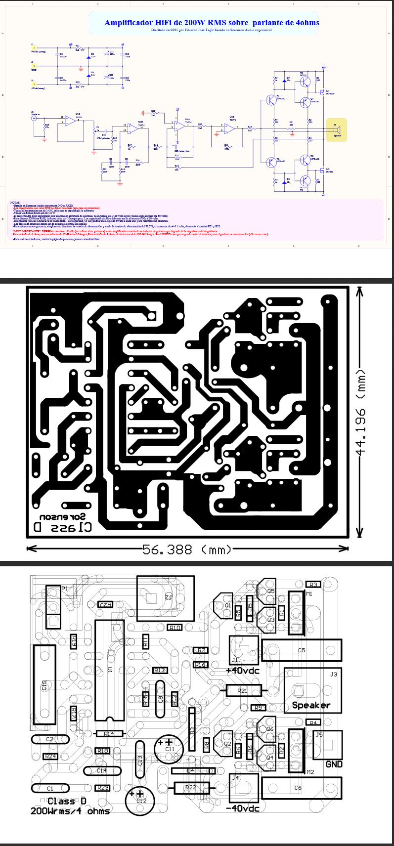 Amplificador 200w Mosfet No Calienta Barato Pinterest Arduino Tda2030 Hi Fi Audio Amplifier Circuit Electronic Project Taringa