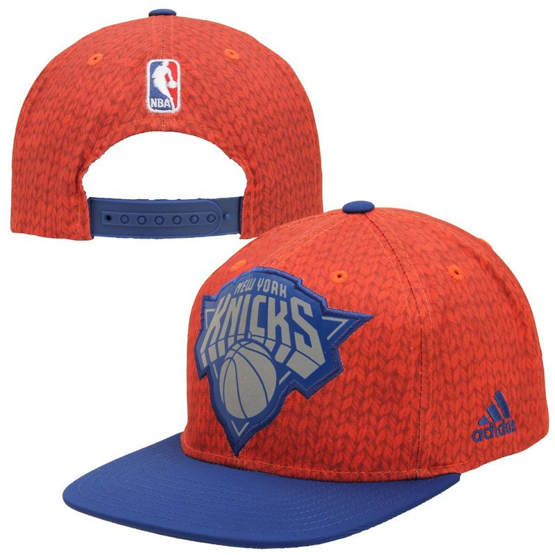 Adidas New York Knicks Christmas Day On Court Impact Camo Snapback Hat Orange Royal Blue New Adidas Snapback Hats New York Knicks