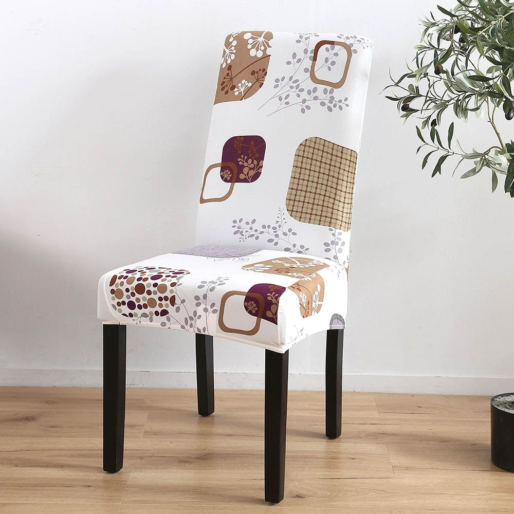 Decorate Your Dinning With These Lovely Christmas Chair: Spandex Elastic Printing Dining Chair Cover