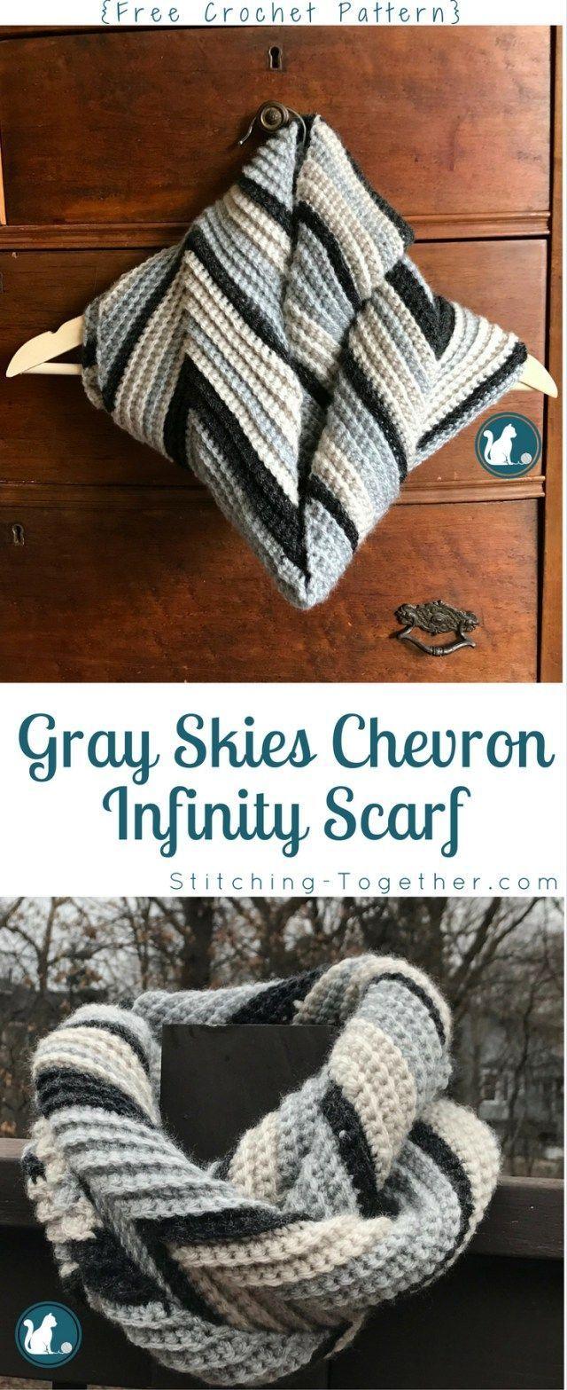 Free Crochet Pattern Infinity Scarf | Abrigos y Ganchillo