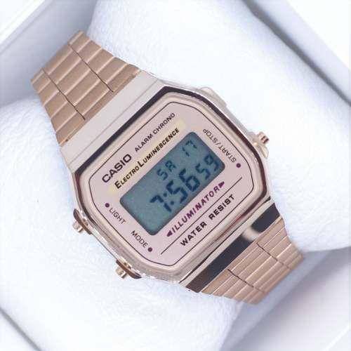 6f88302f9d23 Reloj Casio Rosa   Rose A168 Vintage Envío Gratis