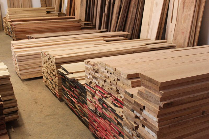 palettes of domestic hardwoods | Smith school | Hardwood