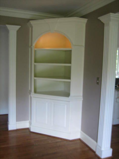 corner built in desk and shelves   Kellogg Creek Cabinets » Built-ins