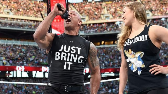 The Rock and Ronda Rousey confront The Authority: photos | WWE.com
