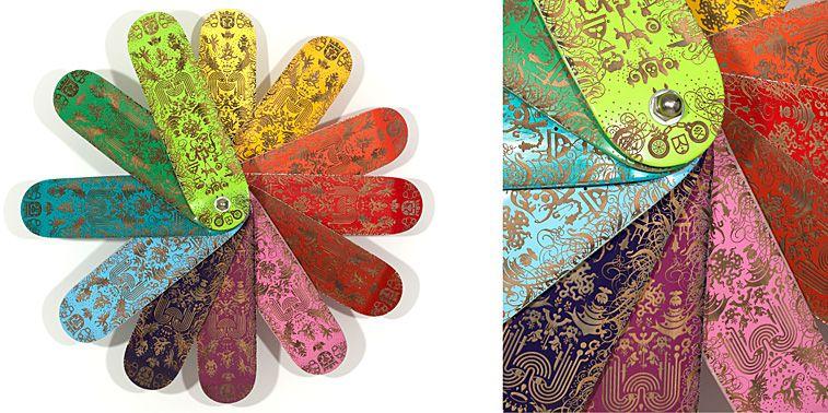 Ryan McGuinness. Rainbow McTwist, 2007, 12 laser-cut painted ...